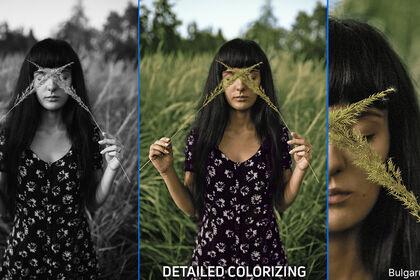 Colorisation d'image noir et blanc de détail