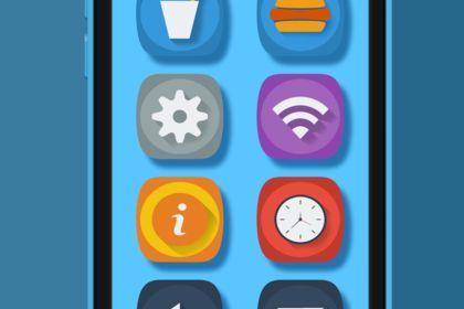 Flat Design menu iphone