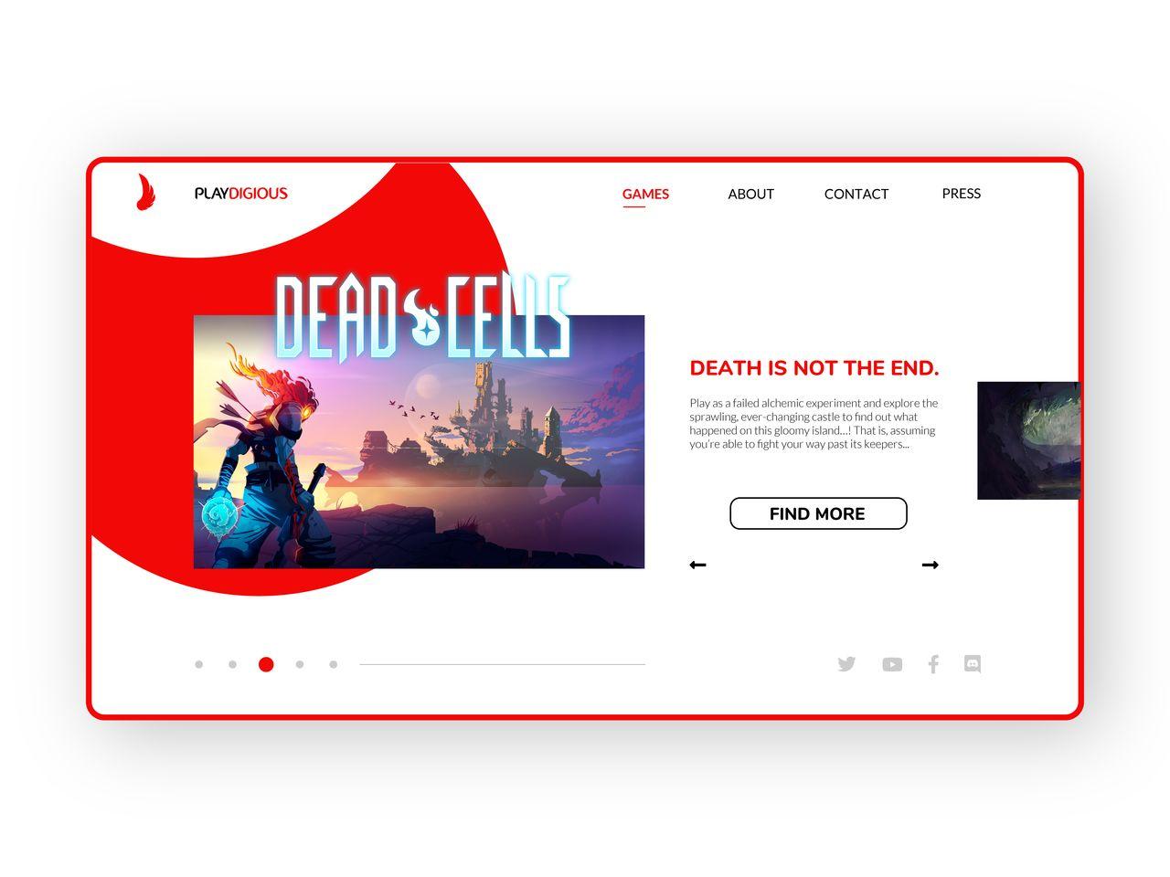 Playdigious Webdesign Concept