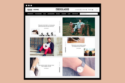 Webdesign site French Mode