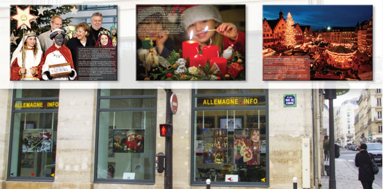 """Affiches pour exposition """"Noël en Allemagne"""""""
