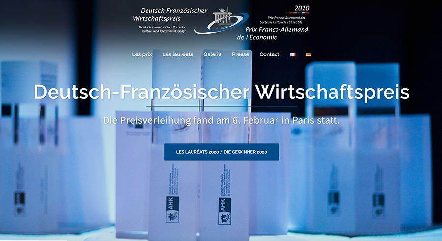 Site Internet du Prix Franco-Allemand de l'Economi