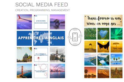 Exemple de feed instagram