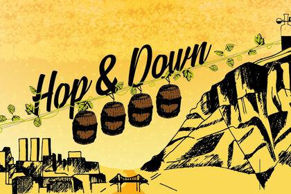 Etiquette de bière La Hop&Down