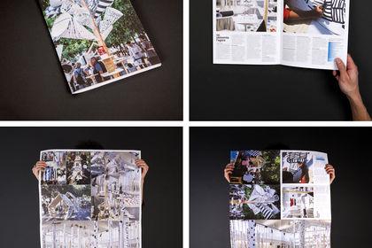 Journal-affiche de la CoOP «Réinventer l'agora»