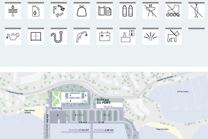 Identité Port Gallice - Pictogrammes / Carte