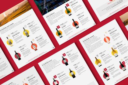 Catalogue - vue intérieur -  Vins & Champagnes