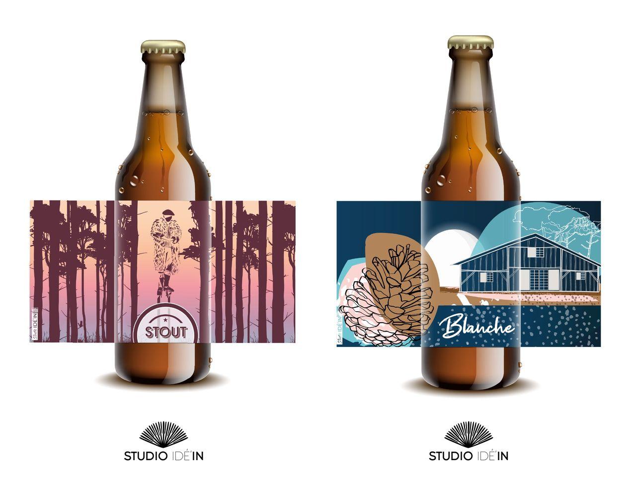 Étiquette de bière Brasserie Naturelle des Landes