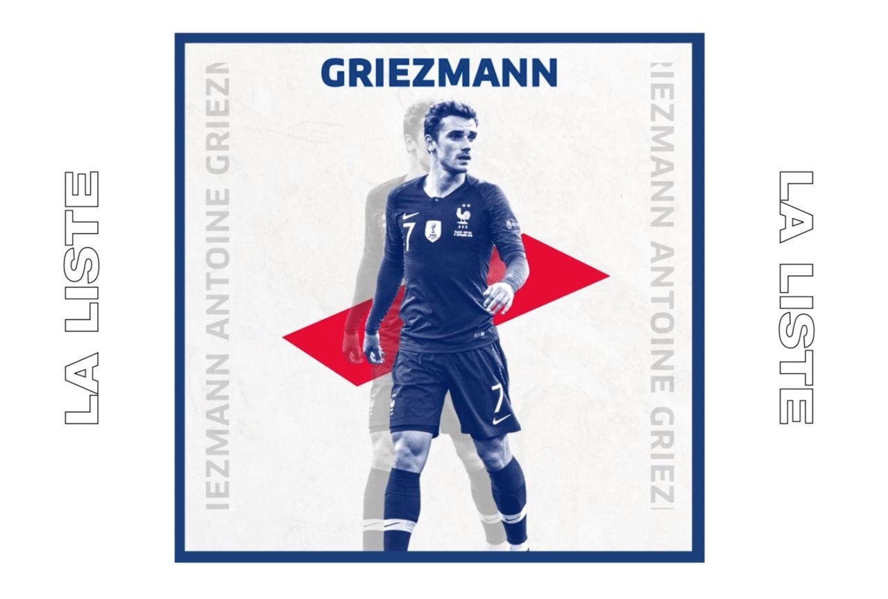 La liste de l'Equipe de France 2019