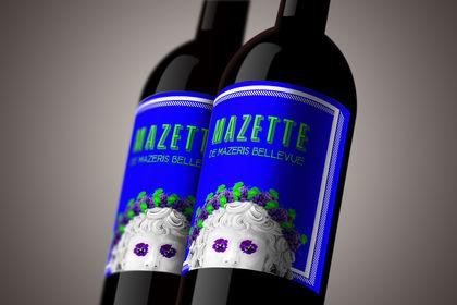 Bouteille de vin Mazette