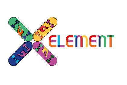 Conceptual logo like brands of skate