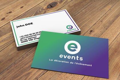 Carte de visite - e-events