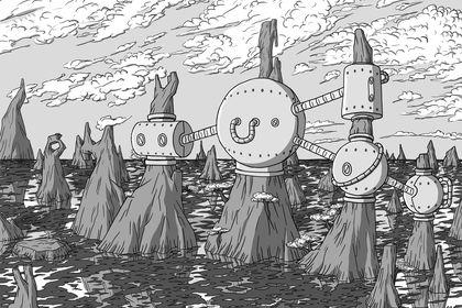 Ilustration d'un paysage immaginaire