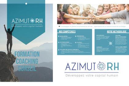 AZIMUT RH- logo et borchure