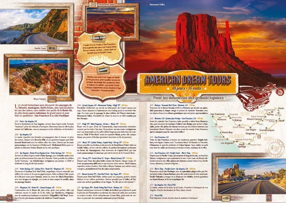 Brochure complète USA