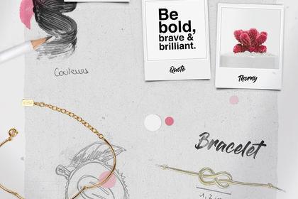 Moodboard - marque de bijoux - Story Instagram