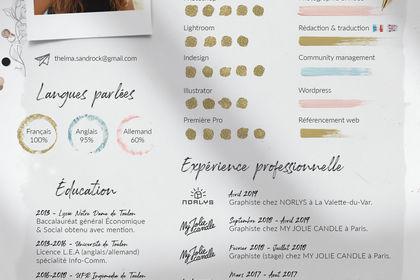 CV - Style dessin/moodboard