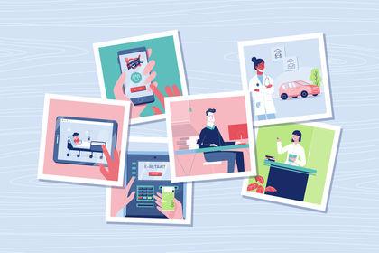 Illustrations motion Design pour une banque