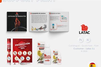 Catalogue Produit, affiche, packaging
