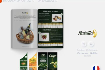 Etiquette et Catalogue de produits Nutrilia