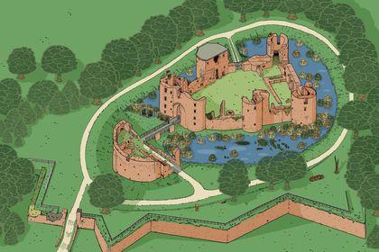 Plan aérien du Château de Ranrouet