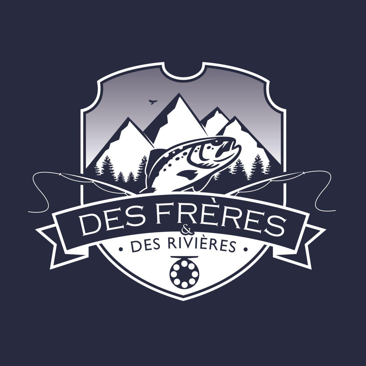 Logo vintage pour équipe de pèche