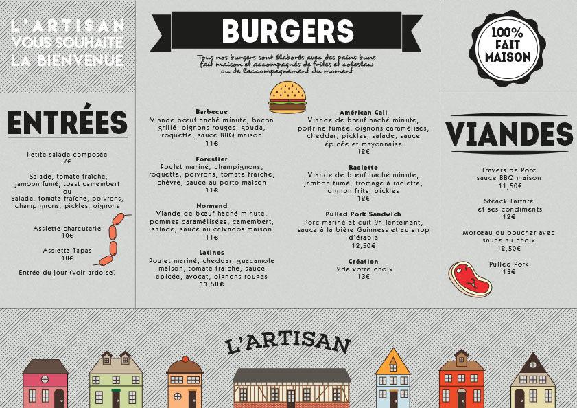 L'artisan Restaurant · Menu