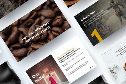 Création Powerpoint pour Nespresso