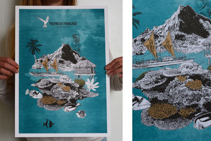 Polynésie française version risographie