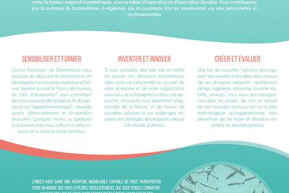 Affiche Institut Polynésien de Biomimétisme #1