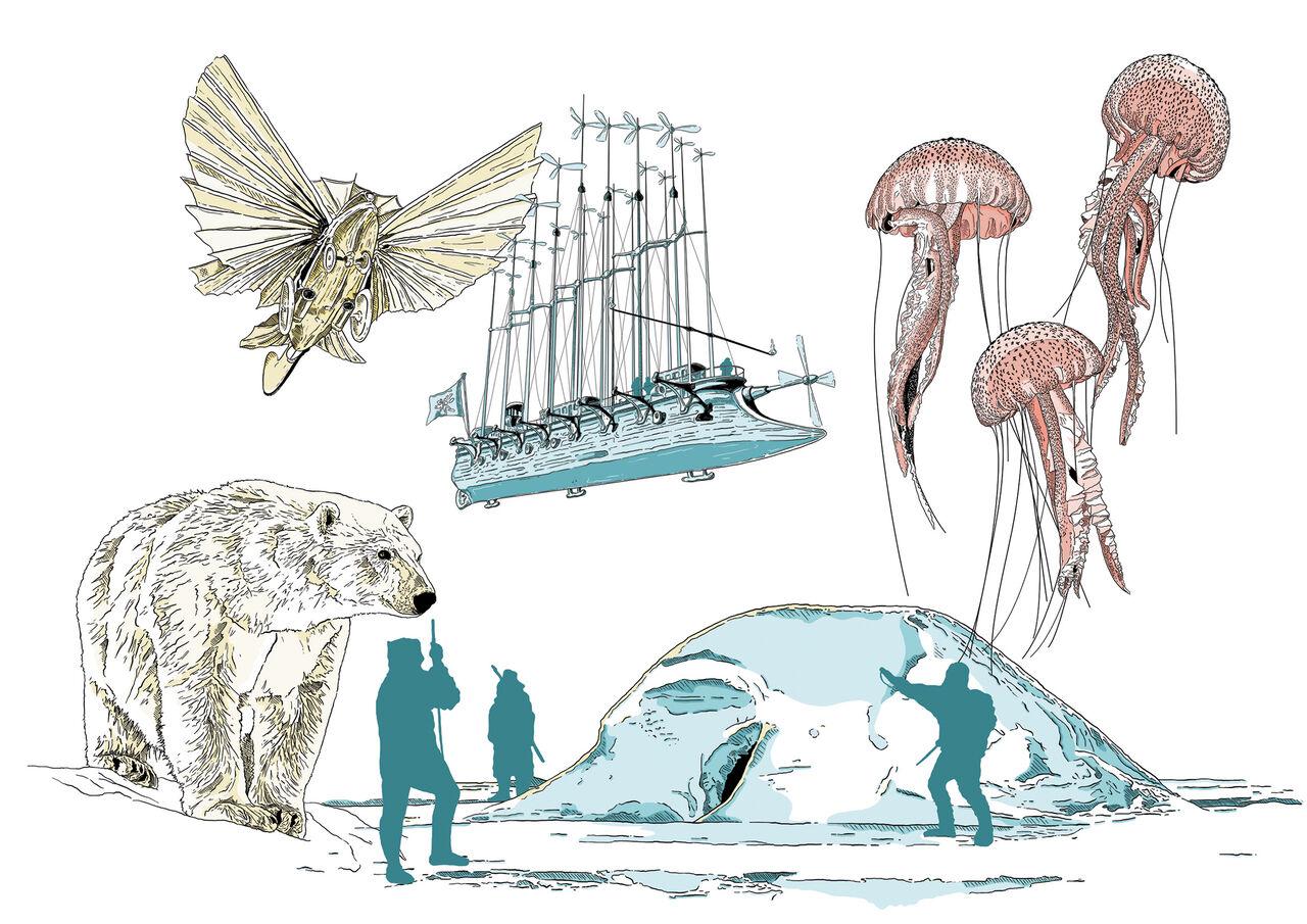 Illustrations Jules Verne
