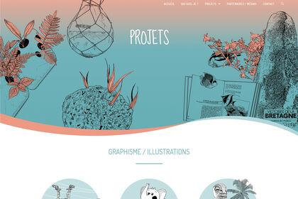 Maquette de site internet