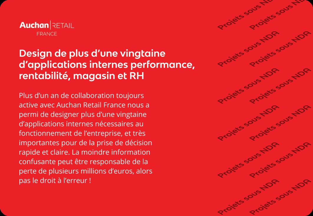 Applications internes Auchan Retail France