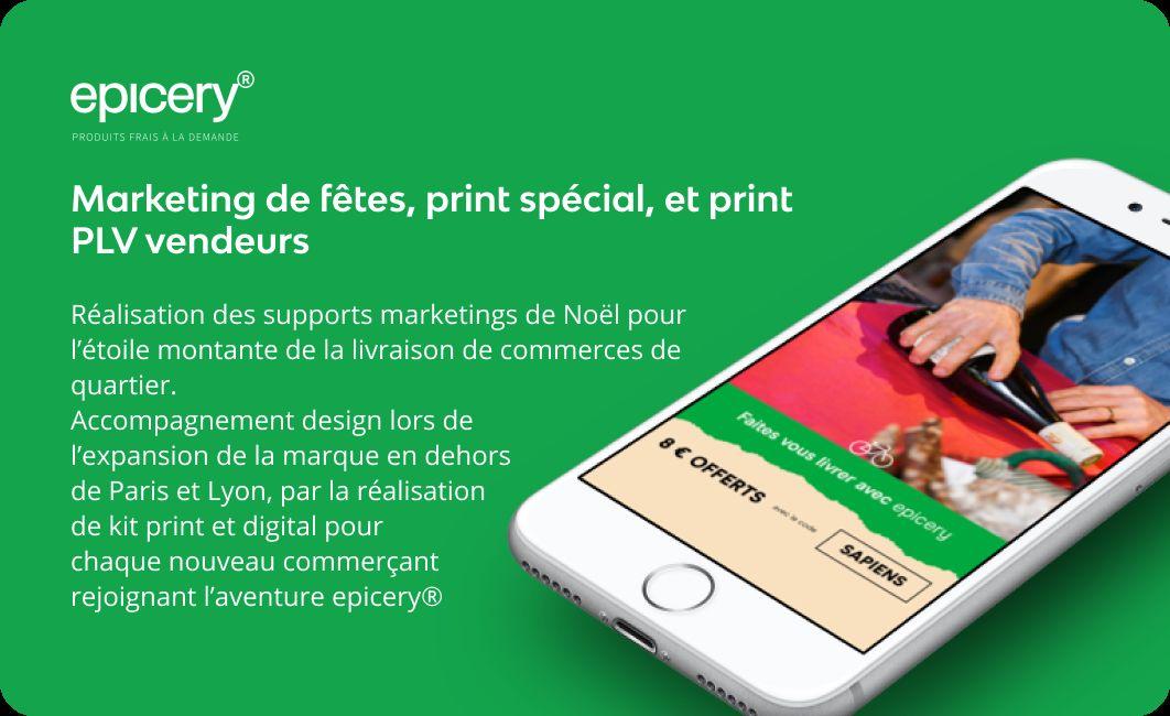 Marketing de fête, digital et print
