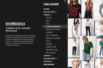 Création app iPad Zadig et Voltaire