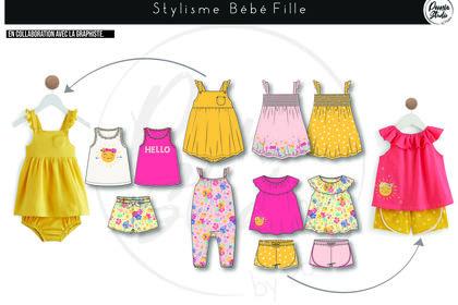 Création Collection Textile Bébé Fille Auchan 2020