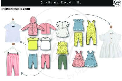 Création Collection Textile Bébé Fille Auchan