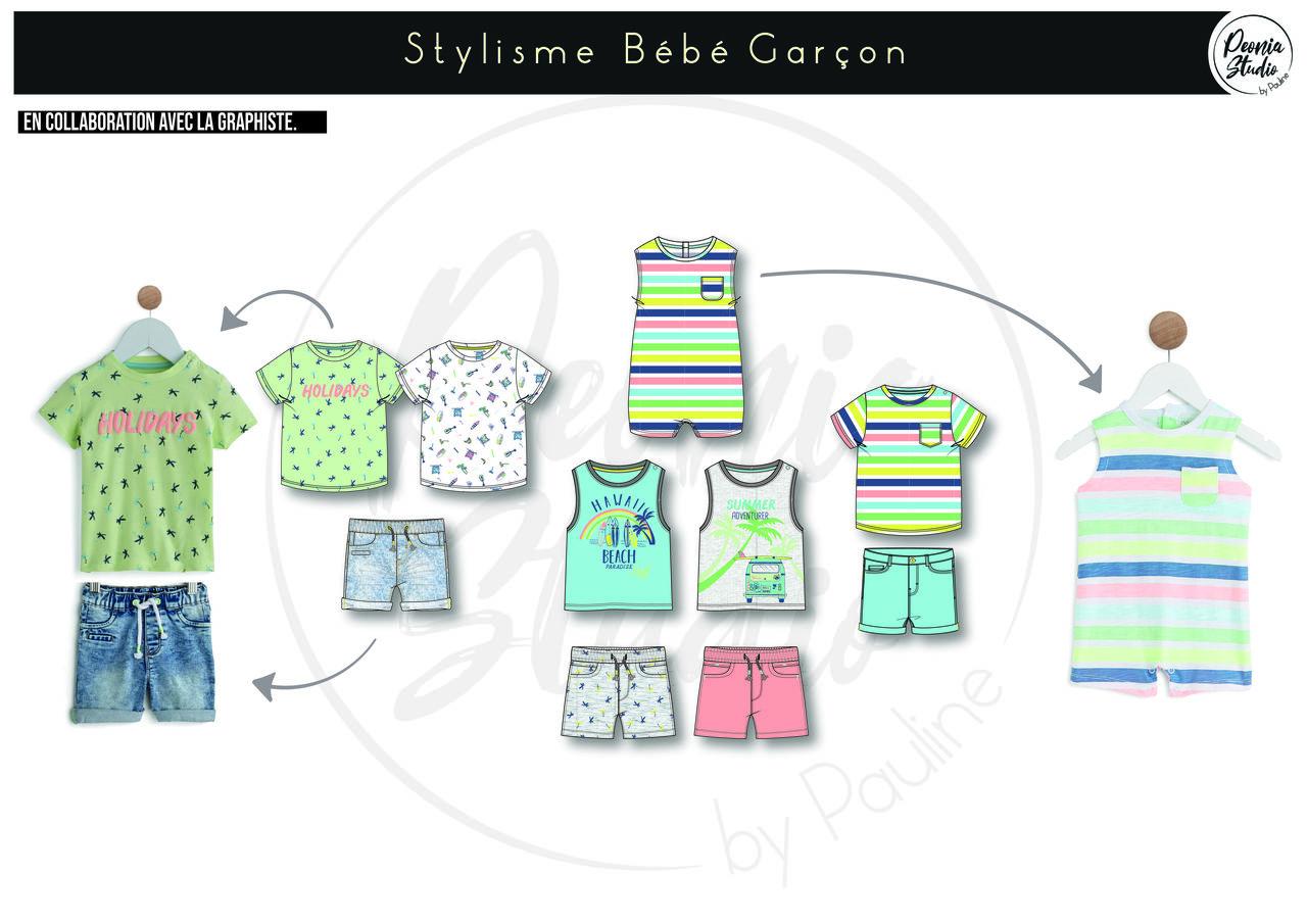 Création Collection Textile Bébé Garçon Auchan