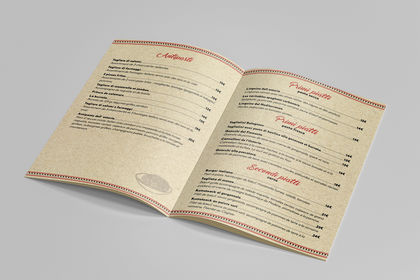Conception graphique Restaurant Menu