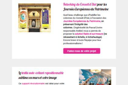 Newsletter + emailing + bannière