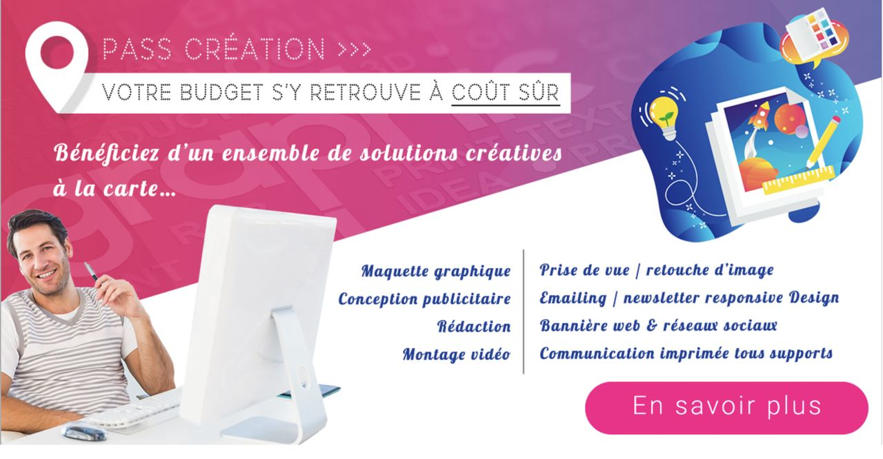 Bannière homepage site imprimeur