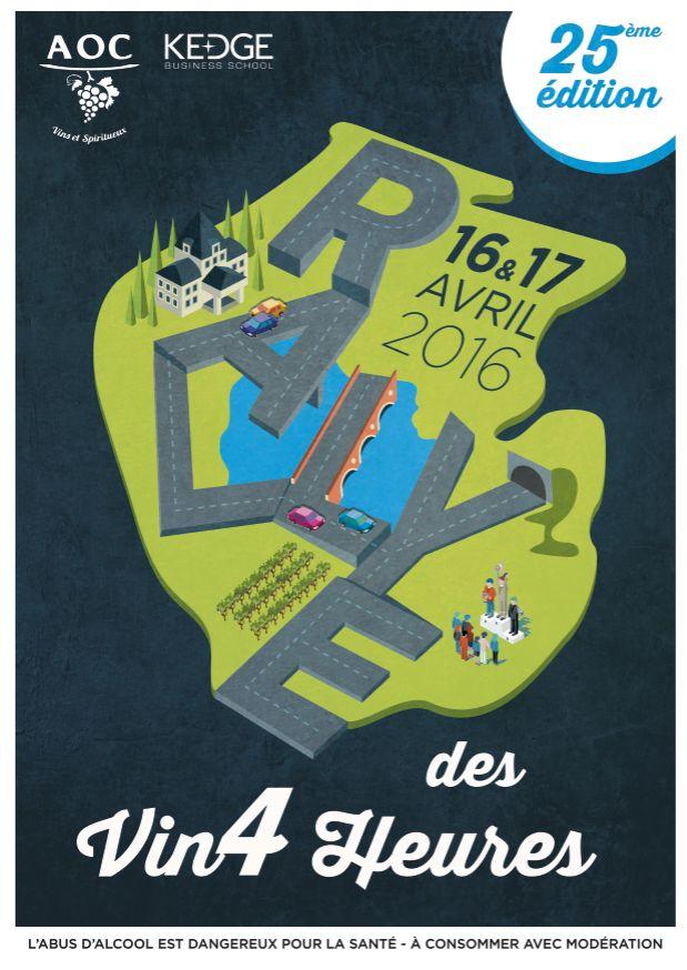 Affiche pour le Rallye des Vin'4 Heures