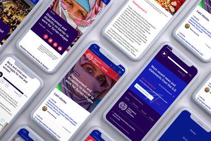 UI Design site ILO Voices