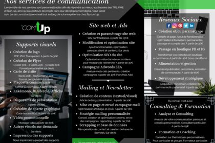 Verso flyer agence de communication