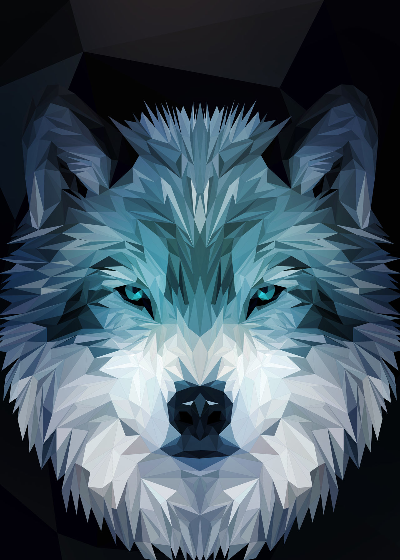 Wolf low-poly