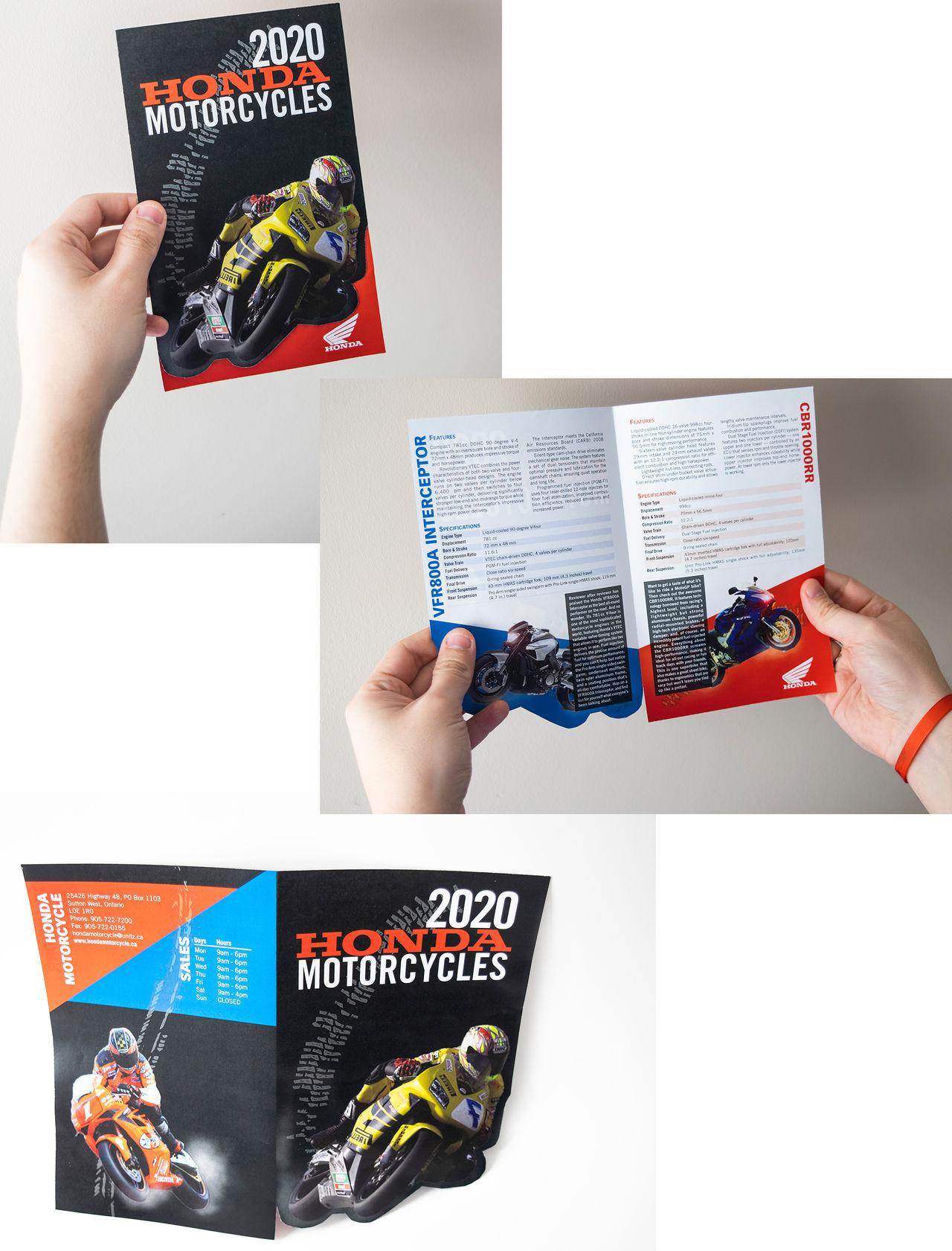 Brochure promotionnelle pour la division « Moto Ho