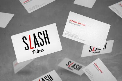 Création de logo - Slash Films (exercice)