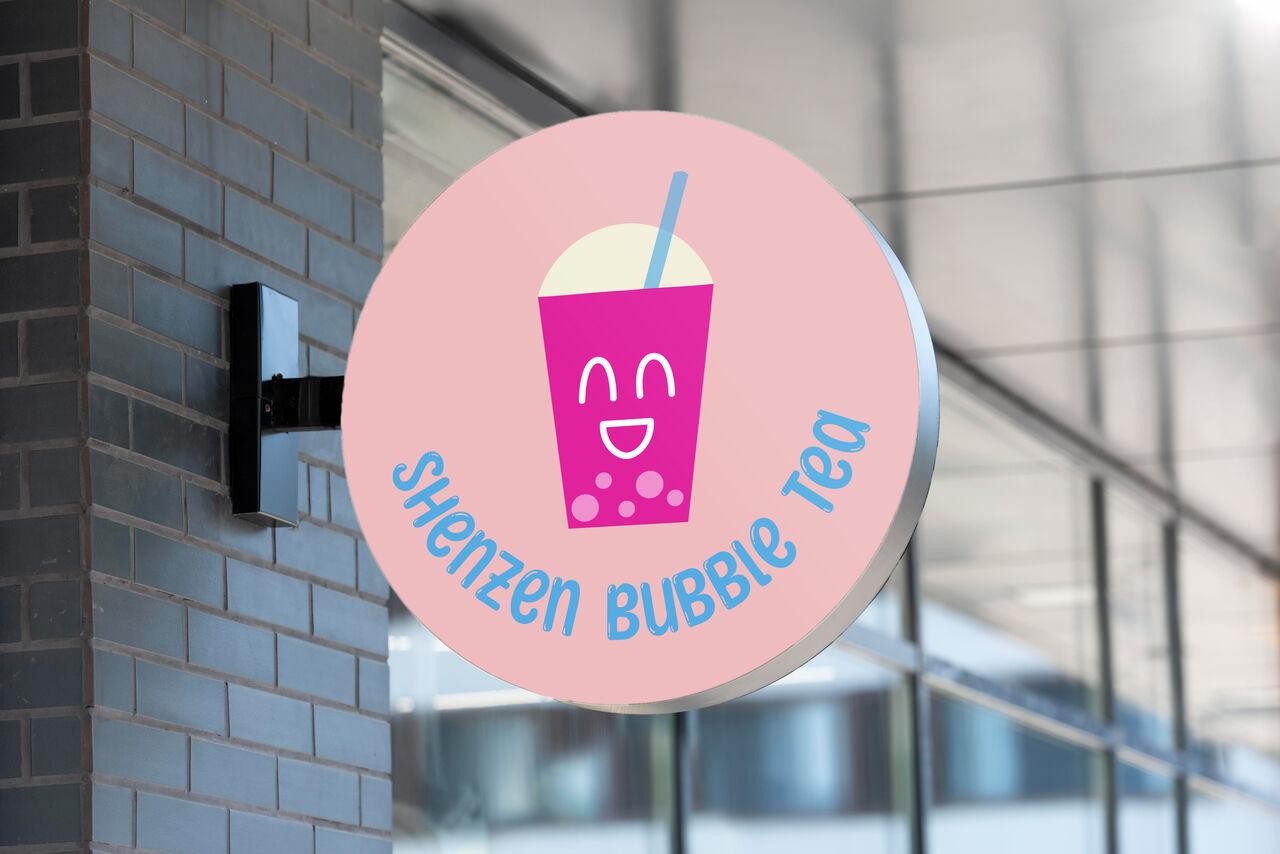 Création de logo - Shenzen Bubble Tea (exercice)