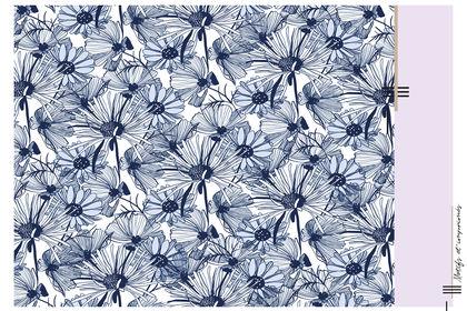 "Motif ""blue flower"""