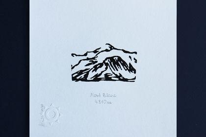 Gravure Mont Blanc